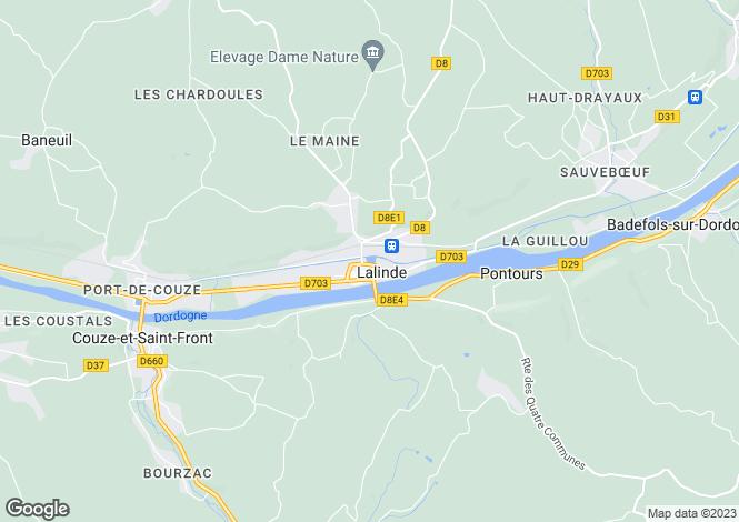 Map for Secteur: Lalinde, Dordogne