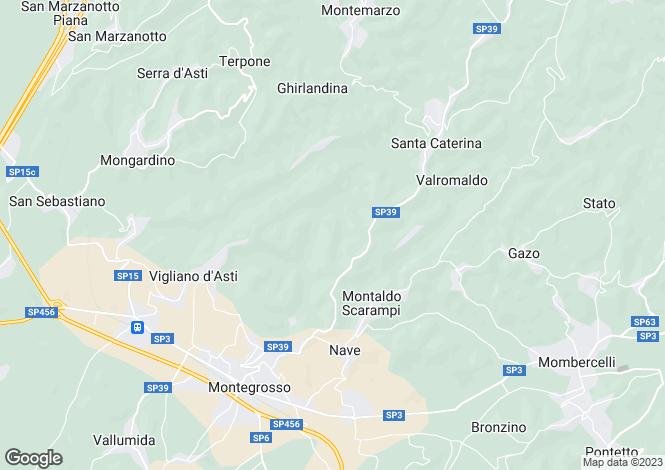 Map for Piedmont, Asti, Nizza Monferrato