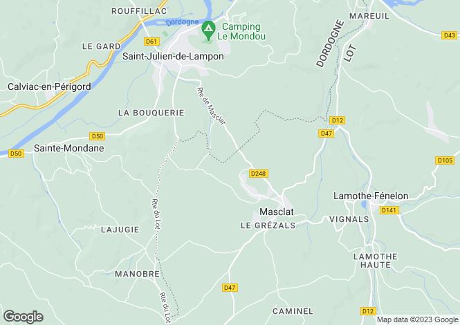 Map for masclat, Lot, France