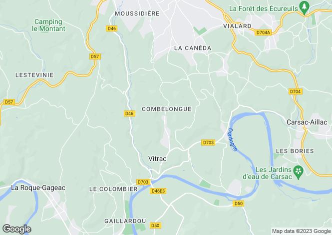 Map for Vitrac, Dordogne, Aquitaine
