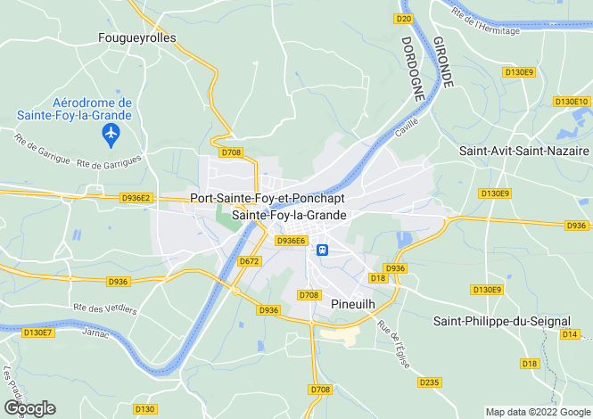 Map for Aquitaine, Dordogne, Port-Ste-Foy-et-Ponchapt