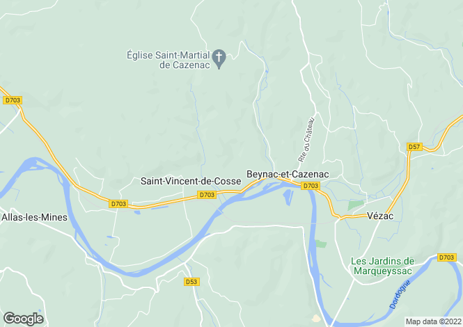 Map for Beynac-et-Cazenac, Dordogne, Aquitaine