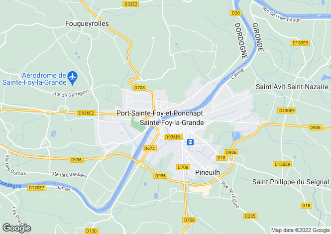 Map for ste-foy-la-grande, Dordogne, France