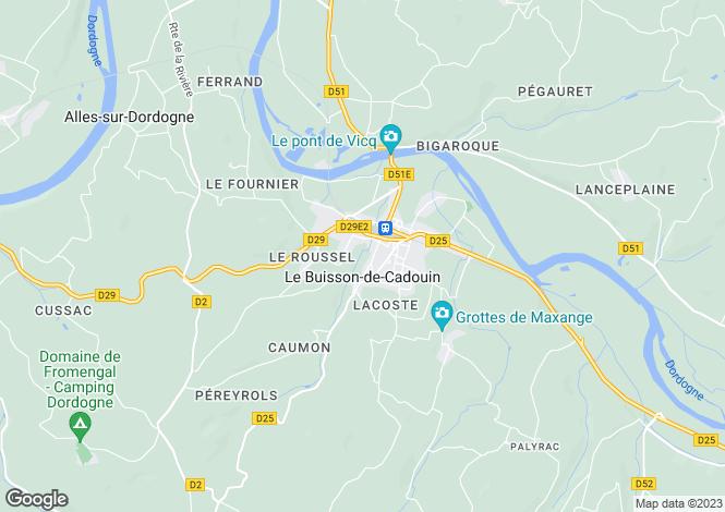 Map for Secteur: Le Buisson-de-Cadouin, Dordogne