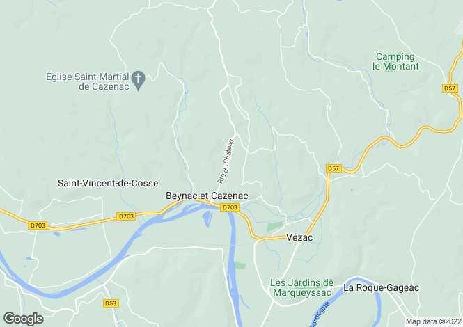 Map for beynac-et-cazenac, Dordogne, France