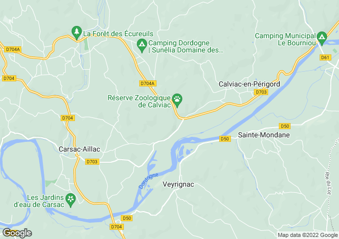 Map for carsac-aillac, Dordogne, France