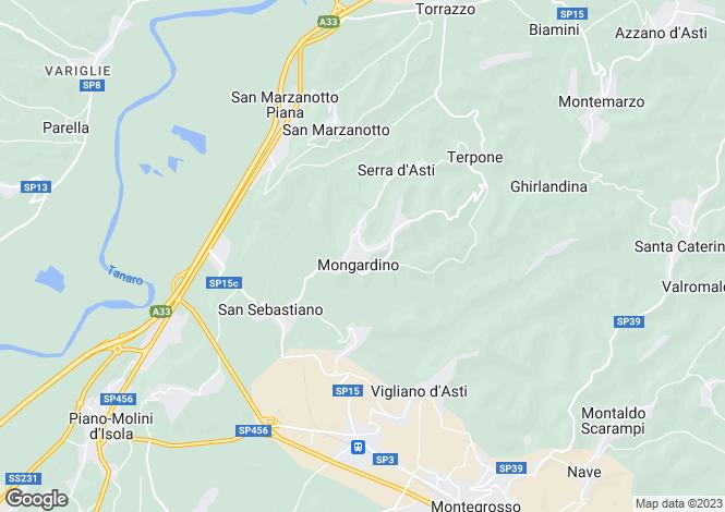 Map for Asti, Asti, Piedmont