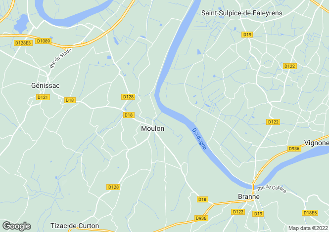Map for moulon, Gironde, France