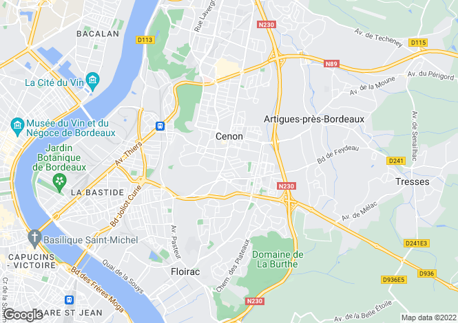 Map for Artigues-près-Bordeaux, 33370, France