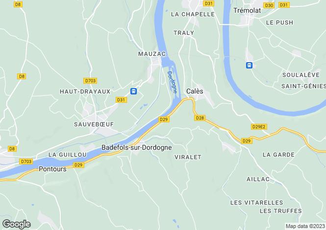 Map for Badefols-sur-Dordogne, Dordogne, Aquitaine