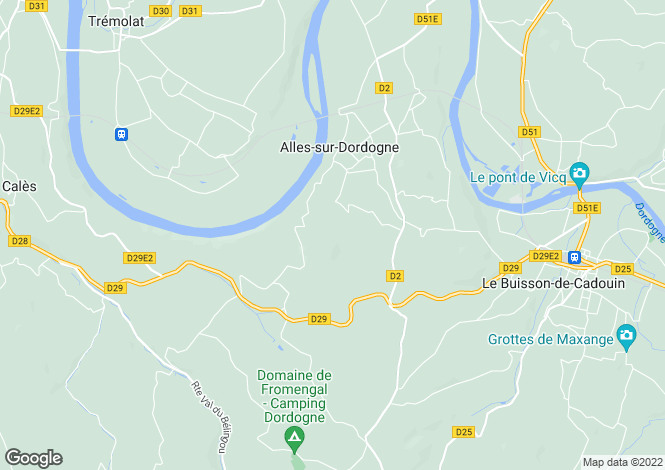 Map for alles-sur-dordogne, Dordogne, France