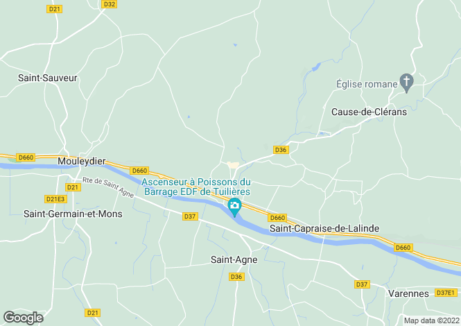 Map for Mouleydier, Dordogne, Aquitaine