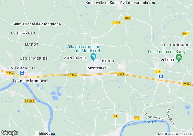 Map for Secteur: Montcaret, Dordogne