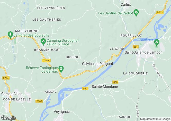 Map for Aquitaine, Dordogne, Calviac-en-Périgord