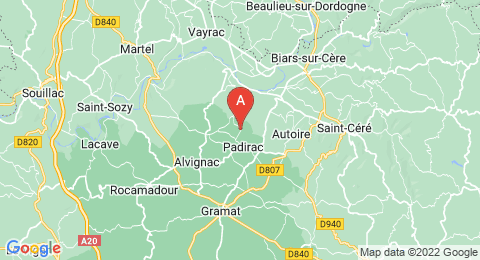 map of Padirac Cave (France)