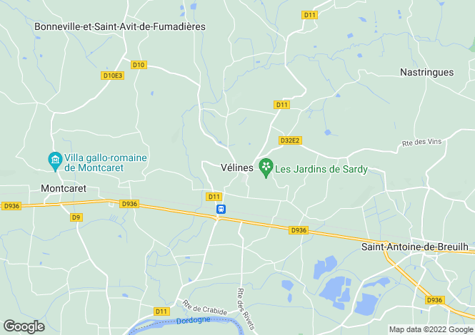 Map for Secteur: Velines, Dordogne