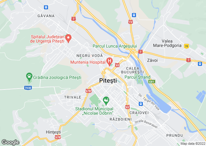 Map for Arges, Pitesti