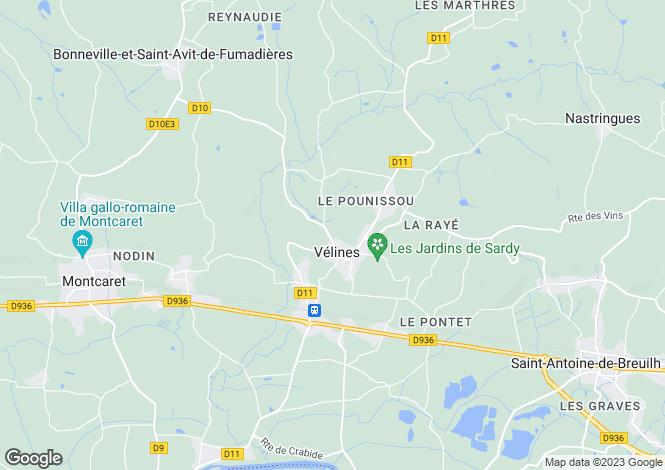 Map for Secteur: Velines, Dordogne