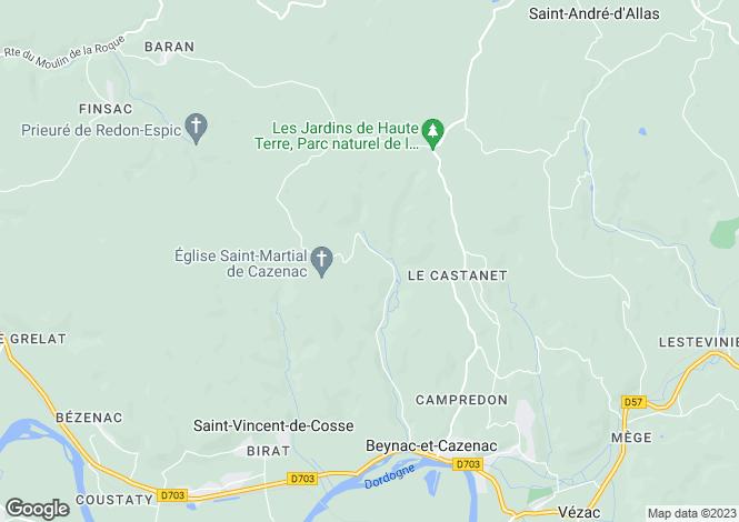 Map for Beynac-et-Cazenac, Dordogne, Aquitaine