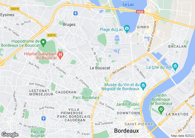 Map for LE BOUSCAT, Bordeaux Area, S.W France - Aquitaine,