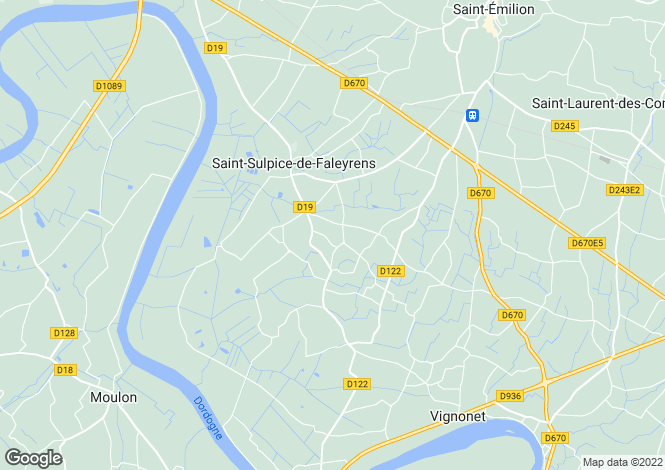 Map for st-sulpice-de-faleyrens, Gironde, France