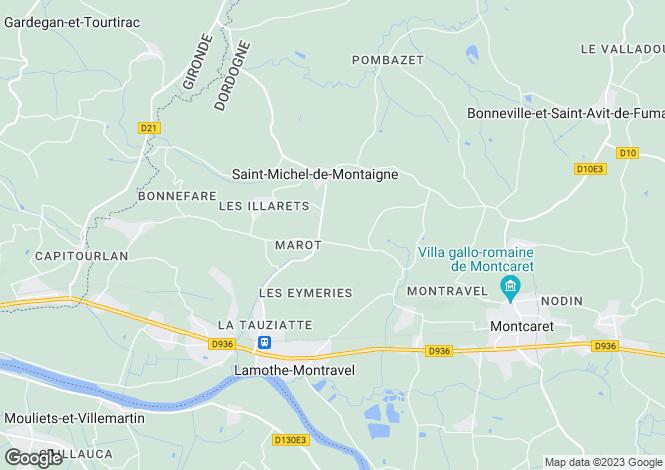 Map for Aquitaine, Dordogne, St-Michel-de-Montaigne