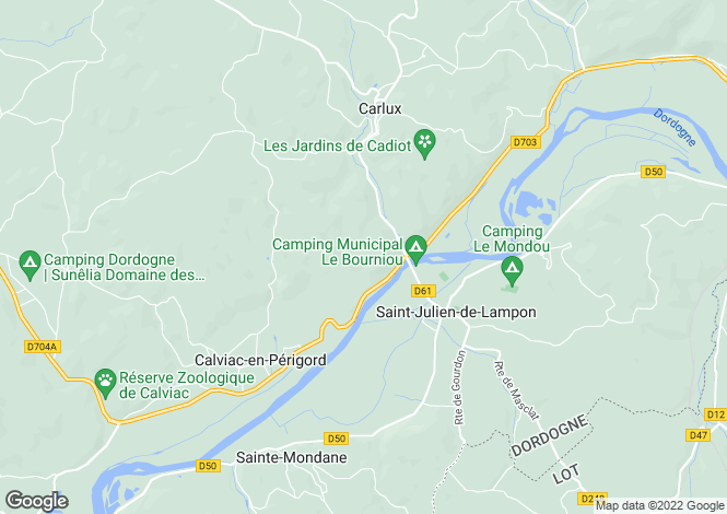 Map for Aquitaine, Dordogne, St-Julien-de-Lampon