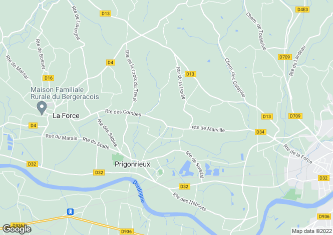 Map for prigonrieux, Dordogne, France