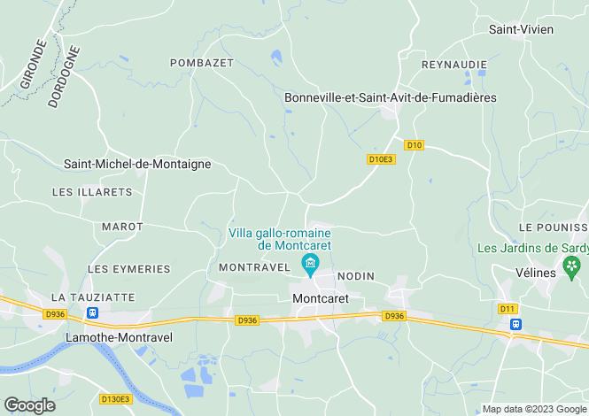 Map for Montcaret, Dordogne, Aquitaine