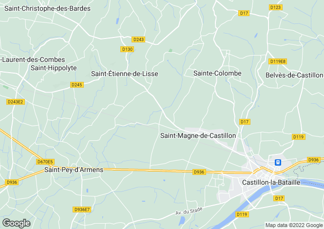 Map for Aquitaine, Gironde, St-Magne-de-Castillon