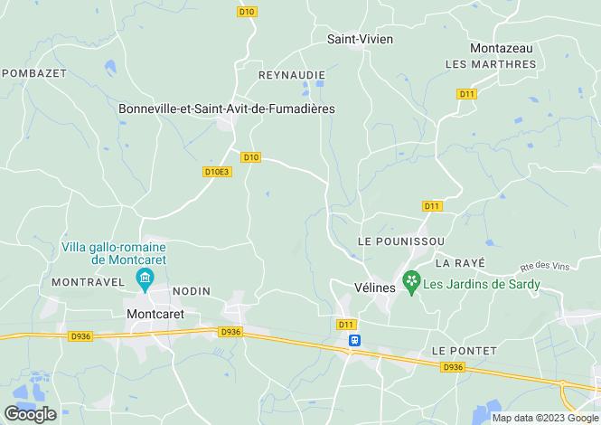 Map for St Meard de Gurson, Dordogne, 24230, France