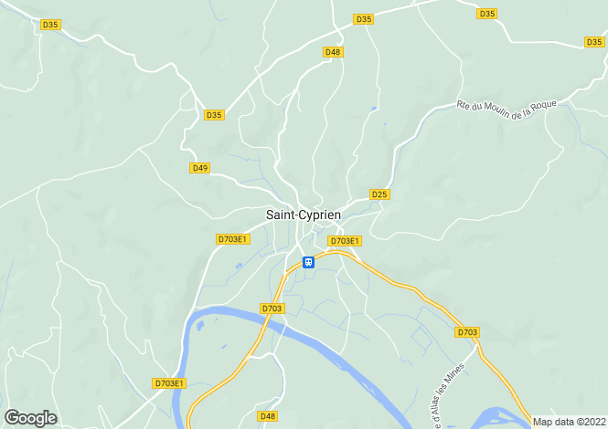 Map for Saint-Cyprien, Aquitaine, 24220, France