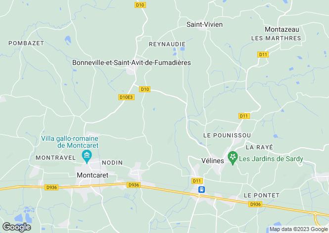 Map for Majestic Chateau, Montaigne Et Gurson Area, Dordogne, Aquitaine