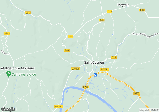 Map for st-cyprien, Dordogne, France