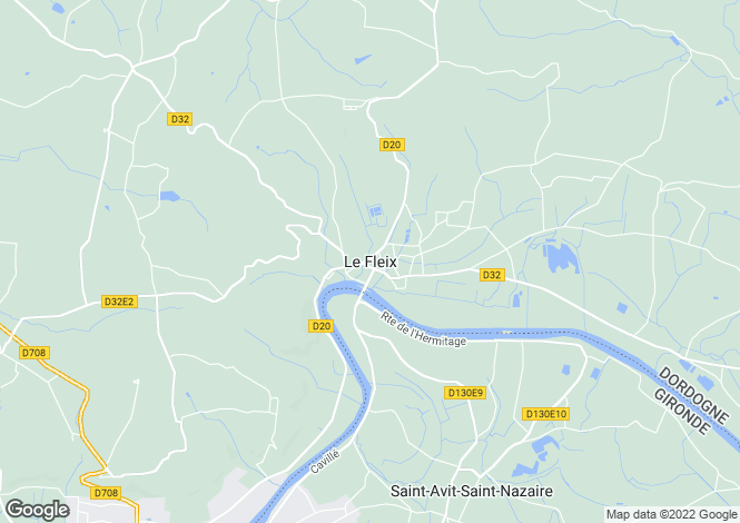 Map for Secteur: Le Fleix, Dordogne