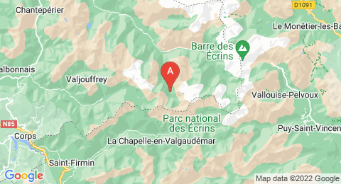 map of Pointe de l'Aiglière (France)