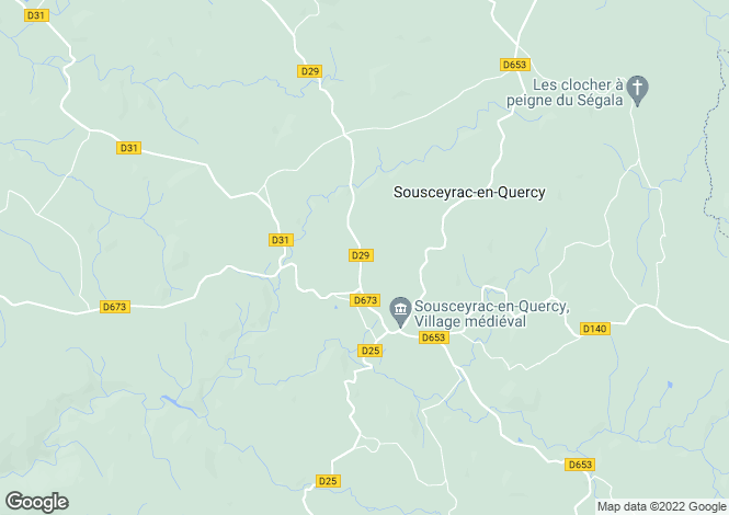 Map for Sousceyrac, Lot, Midi-Pyrénées