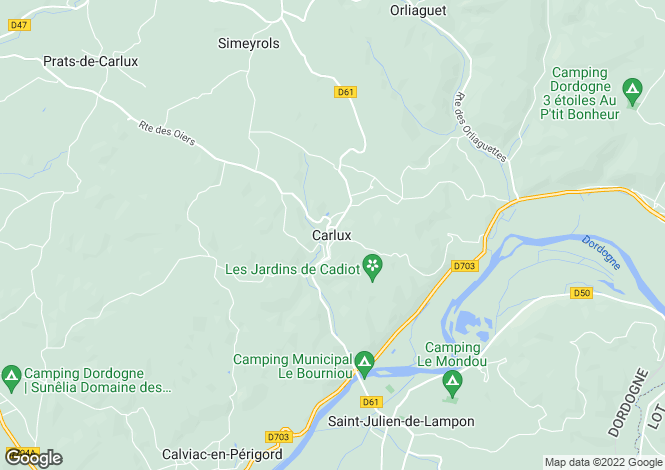 Map for Carlux, Dordogne, South West France