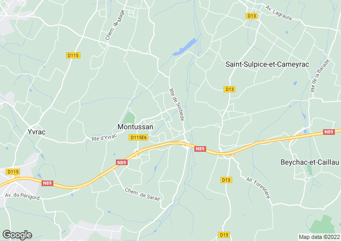 Map for montussan, Gironde, France