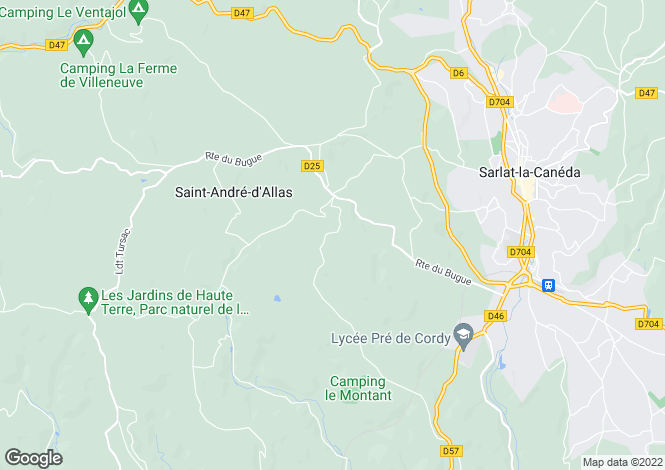 Map for saint-andre--d-allas, Dordogne, France