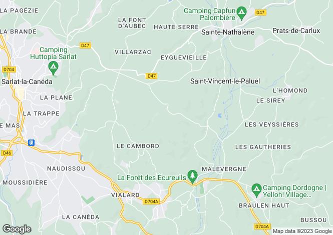 Map for sarlat-la-caneda, Dordogne, France