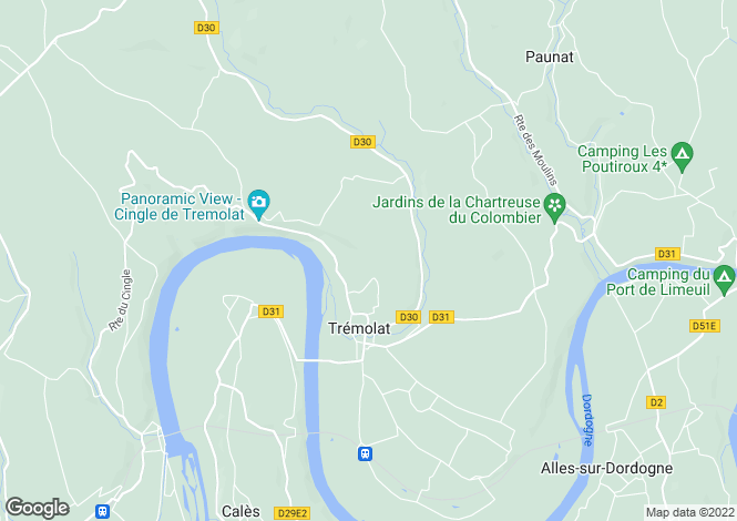 Map for tremolat, Dordogne, France