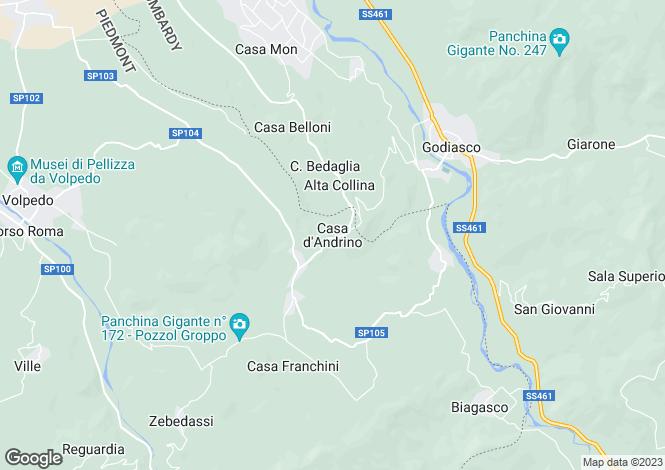Map for Casa Al Vento, Capolana, Tuscany, Italy