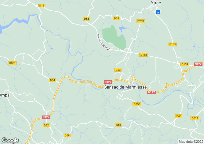 Map for between-figeac-and-aurillac, Cantal, France