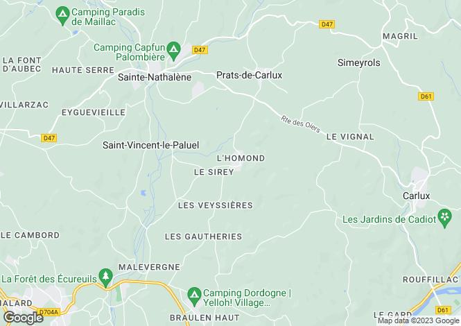 Map for Prats-de-Carlux, Dordogne, Aquitaine