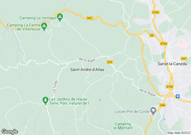 Map for St-André-d`Allas, Dordogne, Aquitaine