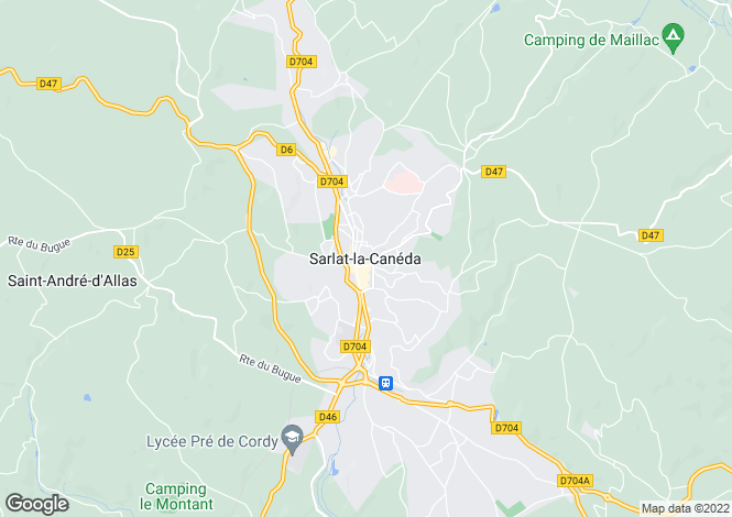 Map for Sarlat La Caneda, Aquitaine, 24200, France