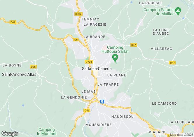Map for Secteur : Sarlat, Dordogne