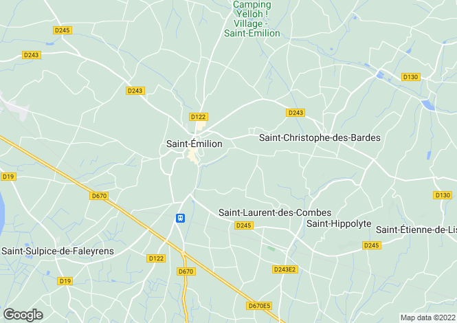 Map for Saint-Émilion, 33330, France