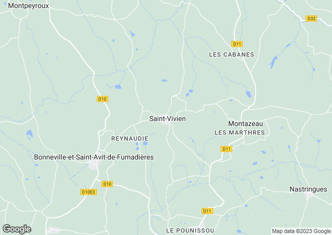 Map for Saint-Vivien, Dordogne